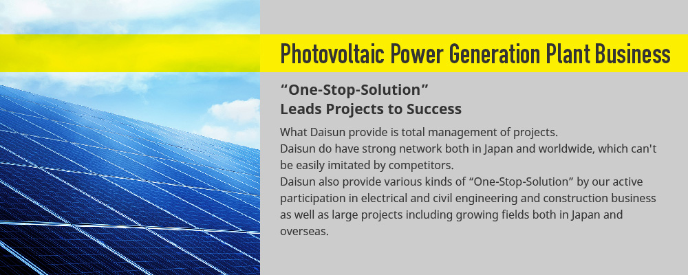 Photovoltaic Power Generation Plant Business
